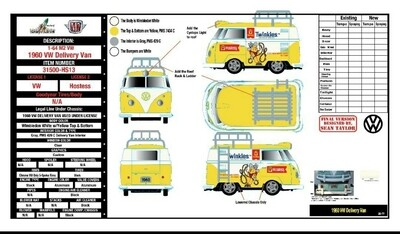 M2 Twinkies Short VW Bus  Volkswagen 1:64 scale Release Release 31