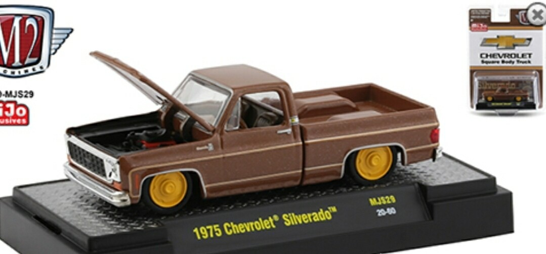 M2 Machines 1:64 MiJo Exclusives - Auto-Trucks - 1975 Chevrolet Silverado 'The Brown Bagger
