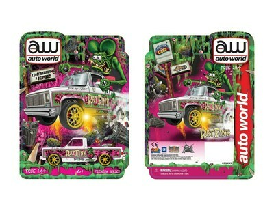 Las Vegas Autoworld Chevy Cheyenne Rat Fink 2.0 Ultra Red and Regular