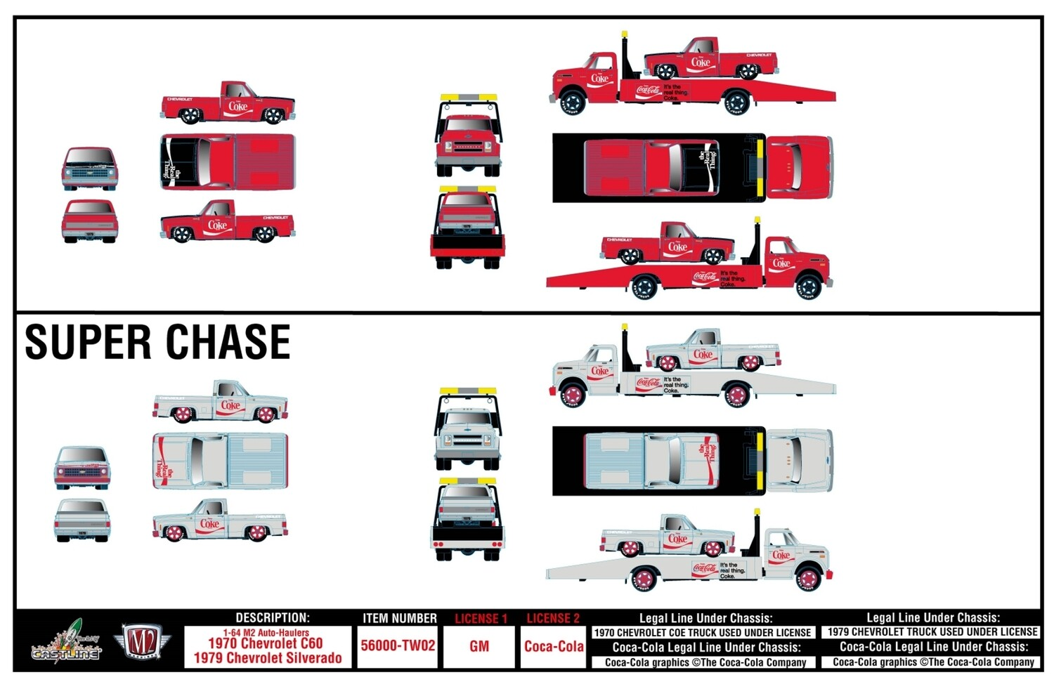 M2 Auto Haulers Release 3 Car Set TW02 with Silverado chance at chases
