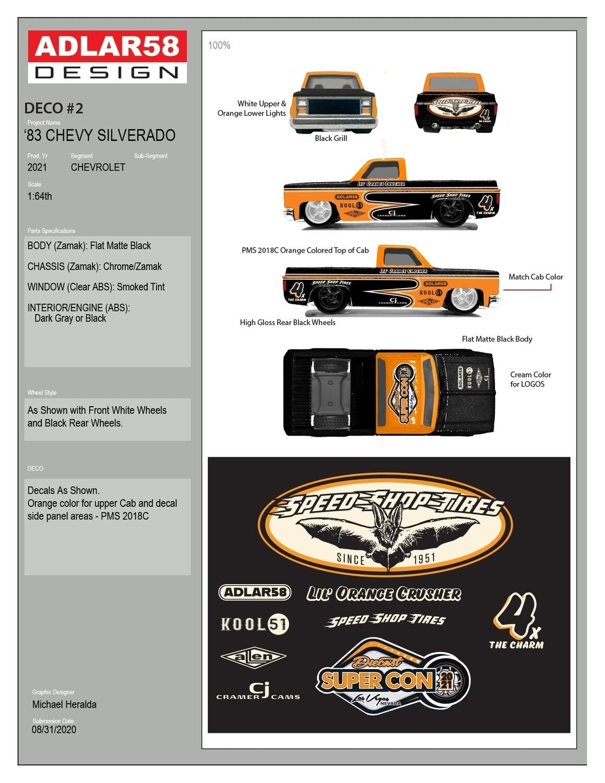 Michael Heralda 83 Silverado Diecast Super Convention - Chase