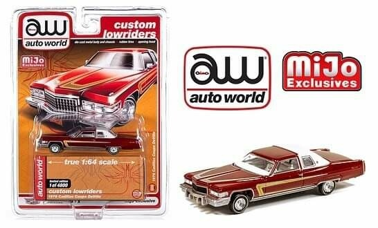 Auto World 1:64 Mijo Exclusive Custom Lowriders 1976 Cadillac Coupe Deville Version #1 Limited Edition