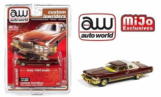 Auto World 1:64 Mijo Exclusive Custom Lowriders 1976 Cadillac Coupe Deville Version #2 Limited Edition