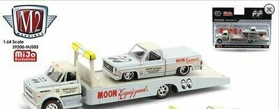 M2 Machines 1:64 Mijo Exclusives Auto-Haulers 1968 Chevy C60 & 1978 Chevy Silverado Mooneyes Equipped Limited 4,400 Pcs