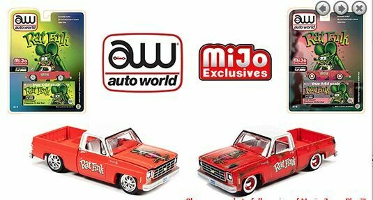 Auto World 1:64 Mijo Exclusive Rat Fink 1978 Chevy Silverado K10 Rat Rod Limited 3,000 Pcs Each