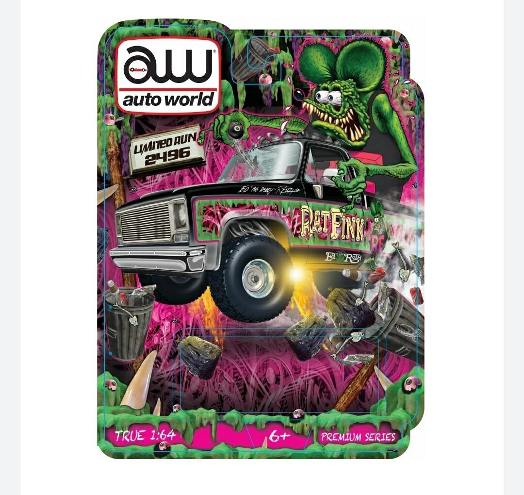 Las Vegas Autoworld Chevy Cheyenne Rat Fink 2.0 4x4 Secret Release