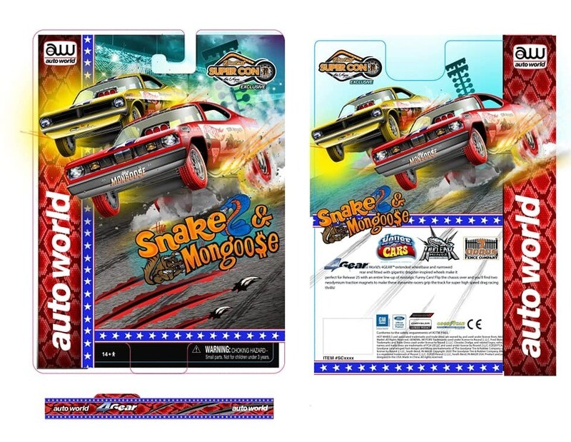 Las Vegas Super Convention Official Mongoose Slot Car Chrome Red 1 of 1008