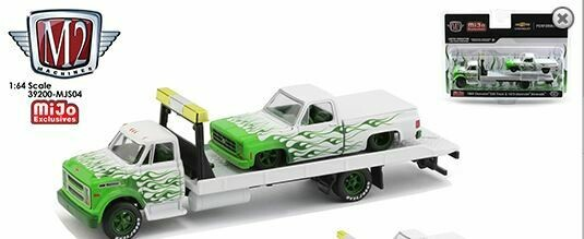 M2 Machines 1:64 Mijo Exclusives Auto-Haulers 1976 Chevy C60 With 1979 Chevy Silverado Limited 4,400