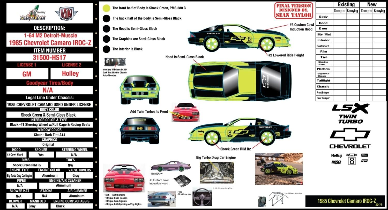 31500-HS17 - HOBBY EXCLUSIVE 1985 Chevrolet Camaro IROC-Z