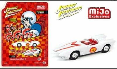 Johnny Lightning 1:64 Mijo Exclusives Speed Racer Mach 5 Japan Nostalgia Version Limited 4,800