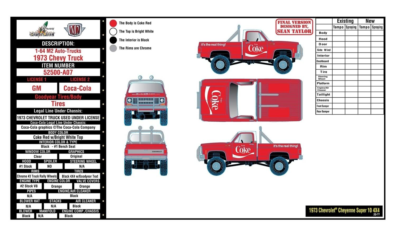 3 Car Coke M2 Set  with New Lifted Silverado