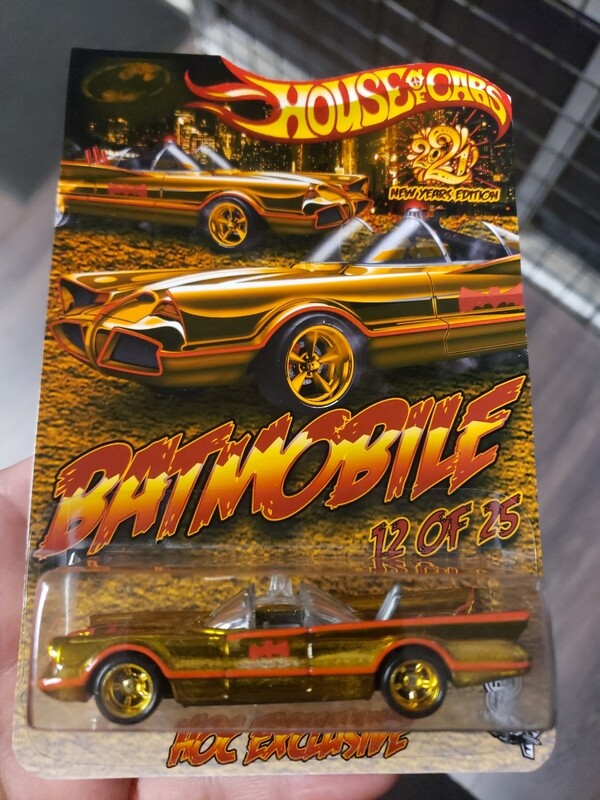 Happy New Year Batmobile 1 of 30 Spectraflame Gold