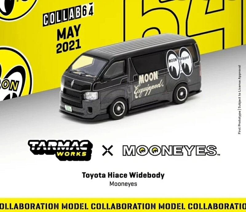 Tarmac Works Hobby 1:64 Toyota Hiace Widebody Mooneye's Black Limited Edition