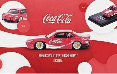 Inno64 1:64 HK Exclusive Nissan Silvia S13 V12 Coca-Cola Rocket Bunny