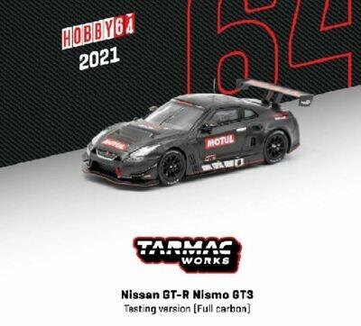 Tarmac Works 1:64 Nissan GTR Nismo GT3 Testing Version Full Carbon Pad Print