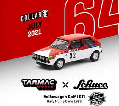 Tarmac Works 1:64 Schuco Volkswagen Golf GTi Rally Monte Carlo 1983