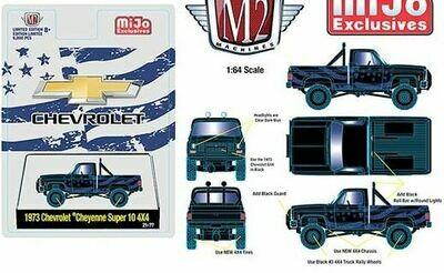 M2 Machine 1:64 Auto Truck Mijo Exclusive 1973 Chevrolet Cheyenne Super 10 4x4