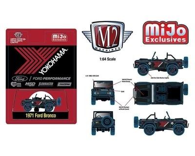M2 Machine 1:64 Auto Truck Mijo Exclusive 1971 Ford Bronco Off Road 4x4 Yokohama Racing