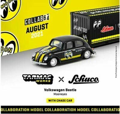 Tarmac Works 1:64 Schuco Volkswagen Beetle Mooneyes with Container case