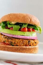 Veggie  burger and Chips