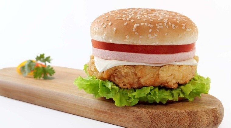kids burger With Chips