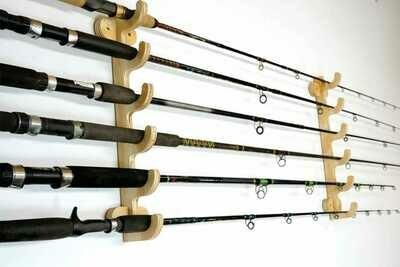 Wood fishing rod holders  FREE SHIPPING