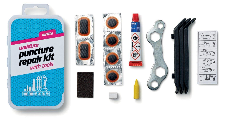 Puncture kit plus tools