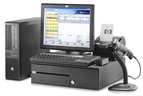 Point of sale system, with a I3 computer, thermal slip printer, scanner