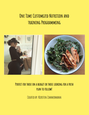 One Time Nutrition & Training Programming