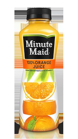 Bouteille de jus d'orange