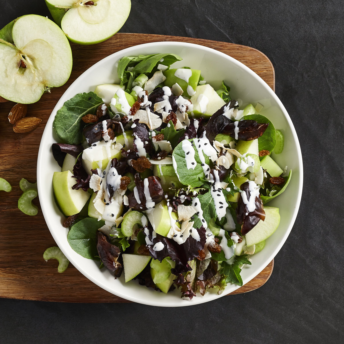 Salade décadente pommes & dattes