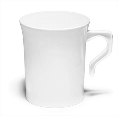 8 oz Coffee Mug Plain White