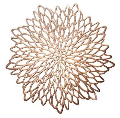 Leaf Design - Rose Gold - Pressed Vinyl Placemat