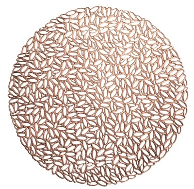 Musk Design - Rose Gold - Round Placemat