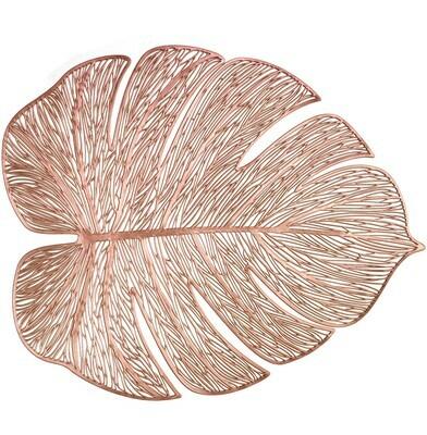 Garden Design - Rose Gold - Pressed Vinyl Placemat