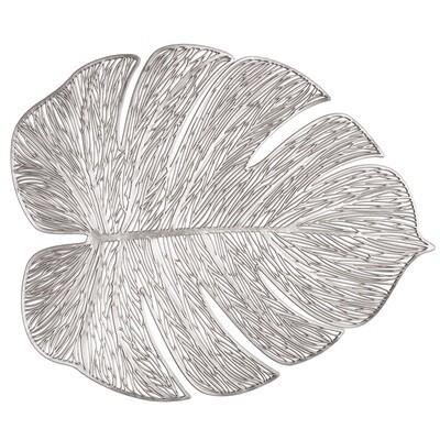 Garden Design - Silver - Pressed Vinyl Placemat