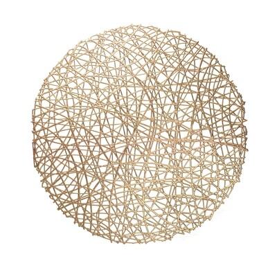 Summer Design - Gold - Round Placemat