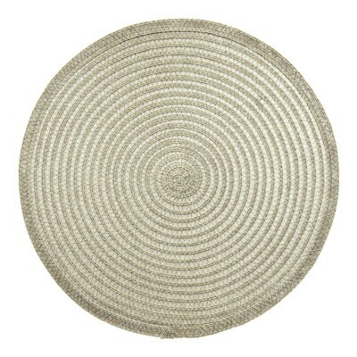 VIVAI Design - Beige - Round Handcrafted Woven Polyester Placemat