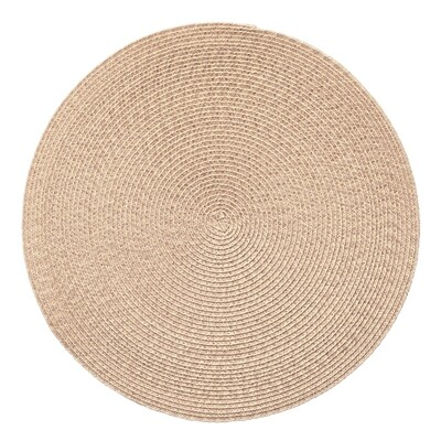Tuscany Design - Beige - Round Handcrafted Woven Polyester Placemat