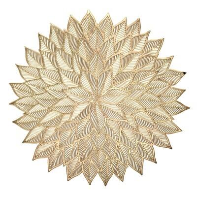 Dhalia Design - Matt Gold - Round Placemat