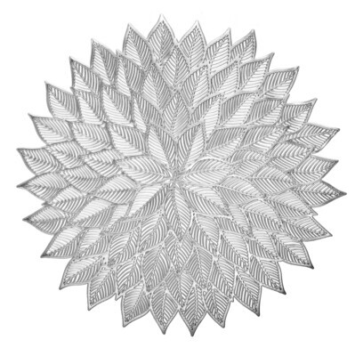 Dhalia Design - Shinny Silver - Round Placemat