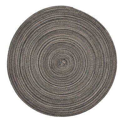 Monaco Design - Grey - Round Handcrafted Woven Polyester Placemat