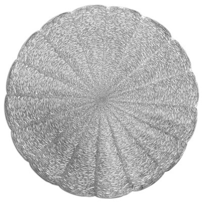 Bloom Design - Shiny Silver - Round Placemats