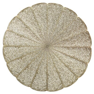 Bloom Design - Matt Gold - Round Placemats