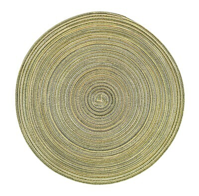 Monaco Design - Green - Round Handcrafted Woven Polyester Placemat