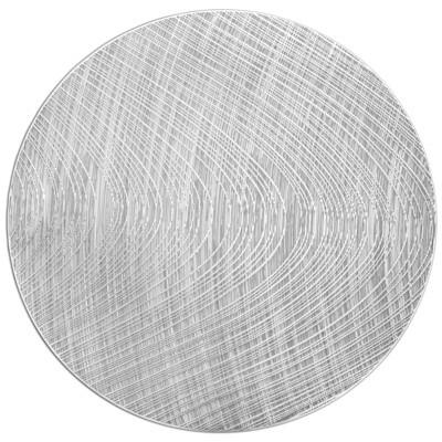 Luna Design - Shiny Silver - Round Placemats