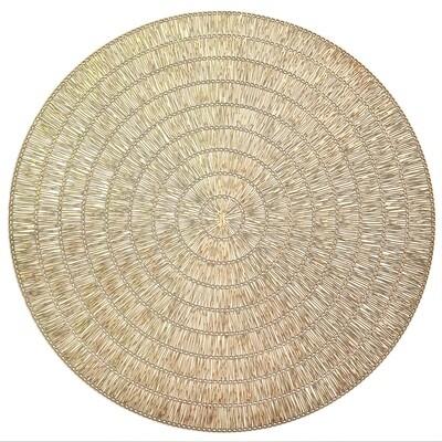 Splendor Design - Matt Gold - Round Placemat