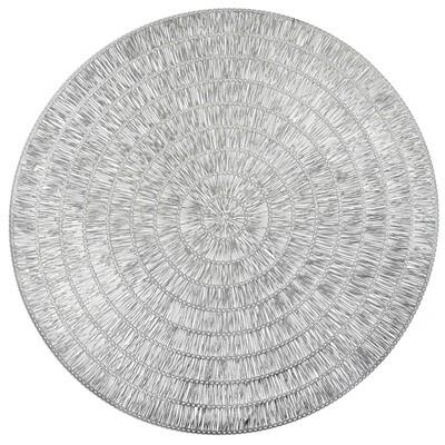 Splendor Design - Shiny Silver - Round Placemats