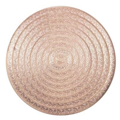 Life Design - Matt Rose Gold - Round Placemats