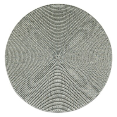 Tuscany Design - Grey - Round Handcrafted Woven Polyester Placemat